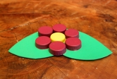 Bottle Cap Flower Coaster