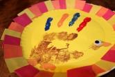 Framed Hand Print Turkey