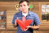 Paper Plate Heart Basket